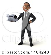 Clipart Of A 3d Young Black Business Man On A White Background Royalty Free Illustration