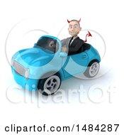 Poster, Art Print Of 3d White Devil Businessman On A White Background