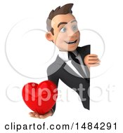 Poster, Art Print Of 3d White Business Man On A White Background