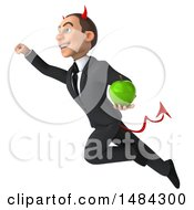 Clipart Of A 3d White Devil Businessman On A White Background Royalty Free Illustration