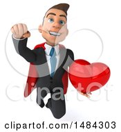 Poster, Art Print Of 3d Super White Business Man On A White Background