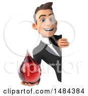 Clipart Of A 3d White Business Man On A White Background Royalty Free Illustration