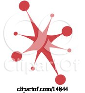 Red Starburst Clipart Illustration by Andy Nortnik