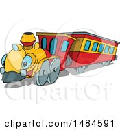 Clipart Of A Cute Cartoon Train Character Royalty Free Vector Illustration
