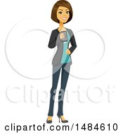 Happy Business Woman Holding A Smart Phone by Amanda Kate