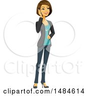 Happy Business Woman Talking On A Smart Phone