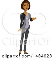 Clipart Of A Happy Business Woman Talking And Gesturing Royalty Free Illustration
