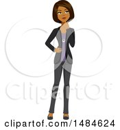 Clipart Of A Business Woman Thinking Royalty Free Illustration