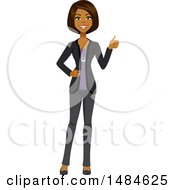 Happy Encouraging Business Woman Giving A Thumb Up