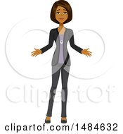 Clipart Of A Disappointed Business Woman Royalty Free Illustration