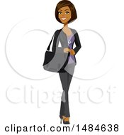 Poster, Art Print Of Happy Business Woman With A Bag On Her Shoulder