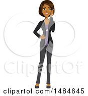 Poster, Art Print Of Happy Business Woman Talking On A Cell Phone
