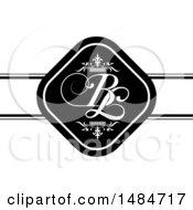 Poster, Art Print Of B And L Initials Wedding Design