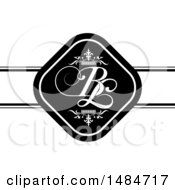 Clipart Of A B And L Initials Wedding Design Royalty Free Vector Illustration