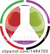 Clipart Of A Colorful Round Science Laboratory Flask Design Royalty Free Vector Illustration