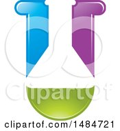 Colorful Science Laboratory Flask Design
