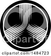 Round Black And White Icon