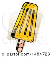 Clipart Of A Sketched Popsicle Royalty Free Vector Illustration by Lal Perera
