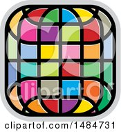 Clipart Of A Colorful Grid Icon Royalty Free Vector Illustration