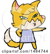 Clipart Of A Fox Royalty Free Vector Illustration