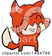 Clipart Of A Fox Royalty Free Vector Illustration by lineartestpilot