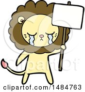 Vector Clipart Of A Lion by lineartestpilot