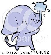 Clipart Cartoon Of A Purple Elephant