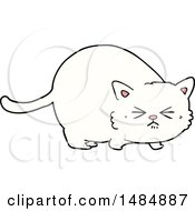 Cartoon Clipart Of A White Kitty Cat by lineartestpilot