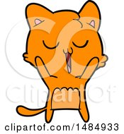 Cartoon Clipart Ginger Marmalade Kitty Cat