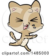 Cartoon Hissing Cat
