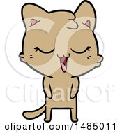 Happy Cartoon Cat