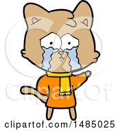 Cartoon Crying Cat