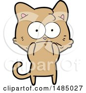Cartoon Nervous Cat