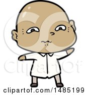 Clipart Of A Cartoon Nervous Man