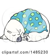 Cartoon Clipart Of A Sleeping Polar Bear by lineartestpilot