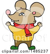 Clipart Cartoon Mouse Wearing Scarf