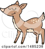 Clipart Cartoon Deer by lineartestpilot