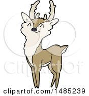Clipart Cartoon Happy Stag by lineartestpilot