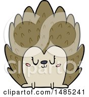 Clipart Cute Cartoon Hedgehog by lineartestpilot
