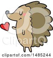 Poster, Art Print Of Cute Cartoon Hedgehog