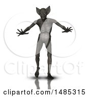 Clipart Of A 3d Demon On A White Background Royalty Free Illustration by KJ Pargeter