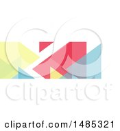 Clipart Of A Geometric Social Media Cover Banner Design Element Royalty Free Vector Illustration