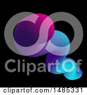 Clipart Of A Colorful Fluid Shape On Black Royalty Free Vector Illustration