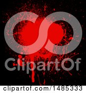 Clipart Of A Blood Splatter Background Royalty Free Vector Illustration