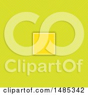 Clipart Of A Frame Over A Green And Yellow Stripes Background Royalty Free Vector Illustration