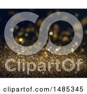 Clipart Of A Sparkly Gold Glitter Background Royalty Free Illustration