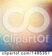 Clipart Of A Sparkly Pixel Or Mosaic Background Royalty Free Vector Illustration