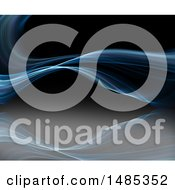 Clipart Of A Blue Wave Background Royalty Free Illustration
