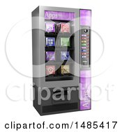 Clipart Of A 3d Vending Machine Full Of Apps On A White Background Royalty Free Illustration