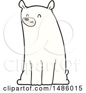 Clipart Of A Polar Bear Royalty Free Vector Illustration by lineartestpilot